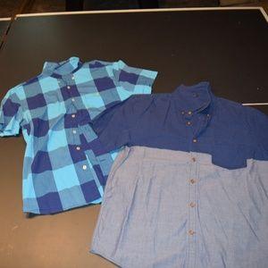 2 Large Slim Fit American Eagle Shirts